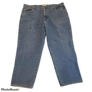 LL Bean Flannel Lined Jeans Mens 46 30 Relaxed Fit